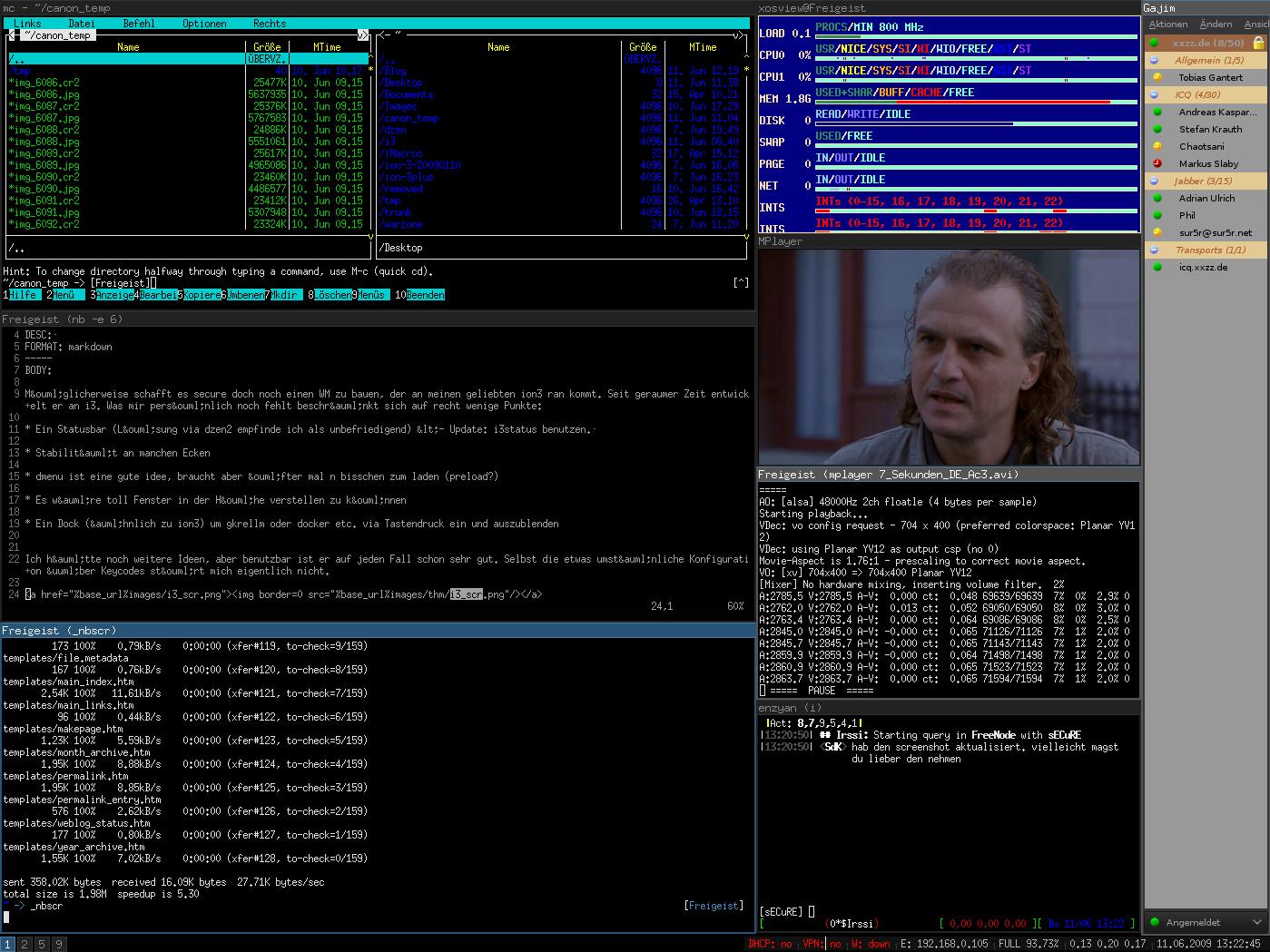Tampilan desktop IceWM