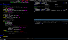 (Screenshot) VIM, zsh, i3status (FreeBSD)