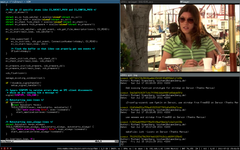 (Screenshot) VIM, git, MPlayer, i3bar